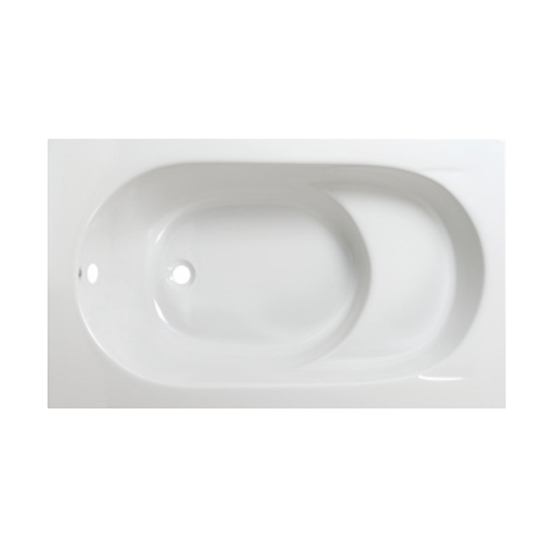 Zitbad Plieger Ronda 120x70cm Acryl Met Poten Wit voordeel