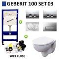 Geberit UP100 Toiletset set03 Geberit Econ 2.0 met Delta drukplaten
