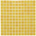 Mozaïektegel The Mosaic Factory Barcelona 23x23 mm Porselein Geel Gevlamd