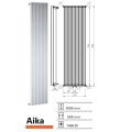 Designradiator Aika 1800 x 500 mm Zwart