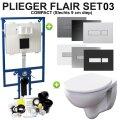 Plieger Flair Compact set03 Geberit Econ 2.0 met Plieger Flair Drukplaat