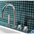 Badrandkraan Hotbath Buddy 2-knop Thermostatisch Compleet 4-gats Chroom