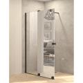 Inloopdouche met Schuifdeur BWS Pure Day 140x200 cm Links Spiegelglas Zwart