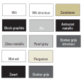 Designradiator Vazia M Enkel 1970 x 304 mm Zwart grafiet (Black graphite)