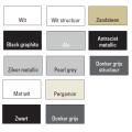 Handdoekradiator Odro gebogen 1196 x 585 mm Donker grijs structuur