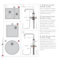 Quooker Fusion Round Steel met Combi Boiler