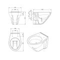 Hangend toilet Boss & Wessing Design Geglazuurd (excl. zitting) | Tegeldepot.nl