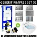 Geberit UP320 Toiletset set01 Boss & Wessing Design Randloos met Sigma drukplaat
