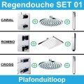 Wiesbaden inbouw regendouche set 01 (plafonduitloop)