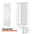 Designradiator Quadroto 2006 x 603 mm Zwart grafiet (Black Graphite)