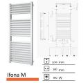 Badkamerradiator Ifona M 1230 x 500 mm Donker grijs