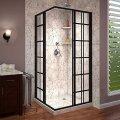 Douchecabine Hoekinstap Best Design Black Corner 89x89x190 cm 4mm Nano