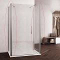 Douchecabine met Twee Zijwanden Lacus Montecristo Aluminium Muurprofiel Helder Glas 6mm (ALLE MATEN)