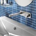 Wastafelmengkraan Hotbath Buddy inbouw 3+3 inbouwsysteem 1-hendel Recht 17 cm Chroom