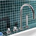 Badrandkraan Hotbath Buddy 1-hendel Mengkraan Compleet 4-gats Chroom