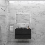 Badkamermeubelset Gliss Zeus 100 cm Zwart Eiken Met Waskom