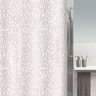 Douchegordijn Allibert Spirella Creamy Zilver 180x200cm