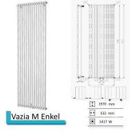 Designradiator Vazia M Enkel 1970 x 532 mm Donker Grijs Structuur