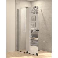 Inloopdouche met Schuifdeur BWS Pure Day 110x200 cm Links Spiegelglas Zwart