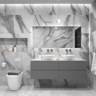 Badkamermeubelset Gliss Zeus 180 cm Beton Grijs Met Waskom