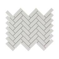 Mozaïek Paris 24.7x31.8 cm Geglazuurd Porselein, Visgraat En Mat Wit (Prijs Per 0.79 m2)