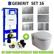 Geberit UP320 Toiletset set16 Boss & Wessing Ideal Standard Connect met Sigma drukplaat