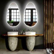 Badkamerspiegel Gliss Triton LED Verlichting 110x60 cm