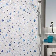 Douchegordijn Allibert Spirella Waterdrop blauw 180x200cm