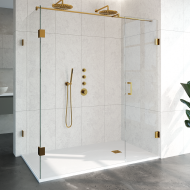Douchecabine Compleet Just Creating Profielloos 3-Delig 100x180 cm Goud