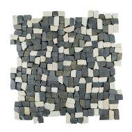 Mozaïek Random Small Mix Gray/Cream Marmer 30x30 cm (Prijs per 1m²)