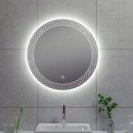 Badkamerspiegel Wiesbaden Deco Rond met LED Verlichting Condensvrij 60 cm