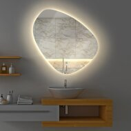Badkamerspiegel Gliss Fury Organic LED Verlichting 120x120 cm