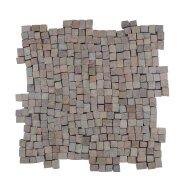 Mozaïek Random Small Yucatan Brown Marmer 30x30 cm (Prijs per 1m²)