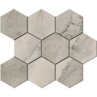 Hexagontegel Cristacer Tavertino Di Caracalla Antracita 35.5x29.2 cm (Per m2)
