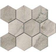 Hexagontegel Cristacer Tavertino Di Caracalla Antracita 35.5x29.2 cm (Per m2)