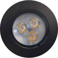 Inbouw Spotlamp Sanimex 85x45 mm Inclusief Armatuur en Gu10 3 Watt Zwart (5 stuks)