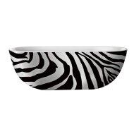 Vrijstaande Bad Best Design 180x86 cm Zebra Acryl Bicolor Zwart Wit