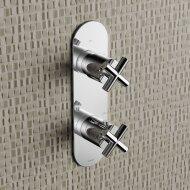 Douchethermostaat Hotbath Chap Inbouw 2-weg Kruisgreep Verticaal Chroom