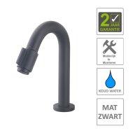 Toiletkraan Boss & Wessing Exclusive Opbouw 12' Mat Zwart