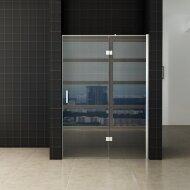 Nis swingdeur Wiesbaden 110x200cm + vast paneel 8mm NANO coating | Tegeldepot.nl