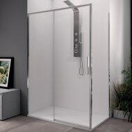 Douchecabine Lacus Torcello Schuifdeur met Zijwand 100x200 cm 6 mm Helder Glas Chroom