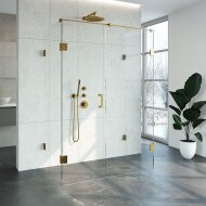 Douchecabine Compleet Just Creating Profielloos XL 80x140 cm Goud