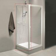 Zijwand Allibert Val 80x185cm Wit Profiel Met Glastekening