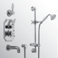 Huber Victorian Thermostatische Inbouw Doucheset Chroom/Goud 914.VT01H.CA