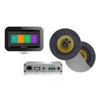Music Center Aquasound N-Joy Controller (IPX7) + Wand Lader + Rumba Speakerset + Wifi-Audio Versterker 30 Watt Mat Chroom