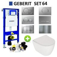 Geberit UP320 Toiletset set64 Plieger Lima met Sigma Drukplaat