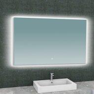 Badkamerspiegel Boss & Wessing Luc Rechthoek Inclusief LED Verlichting Backlight 120 cm