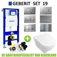 Geberit UP320 Toiletset set19 Villeroy & Boch O.novo met Sigma drukplaat