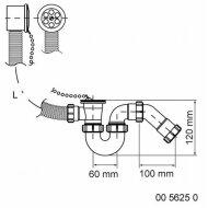 Walraven Mcalpine Badoverloopcomb. M/ketting 70x40mm. Bt10 Basic Wit