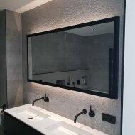 Badkamerspiegel Martens Design Brooklyn Mat Zwart RVS Frame (alle maten)